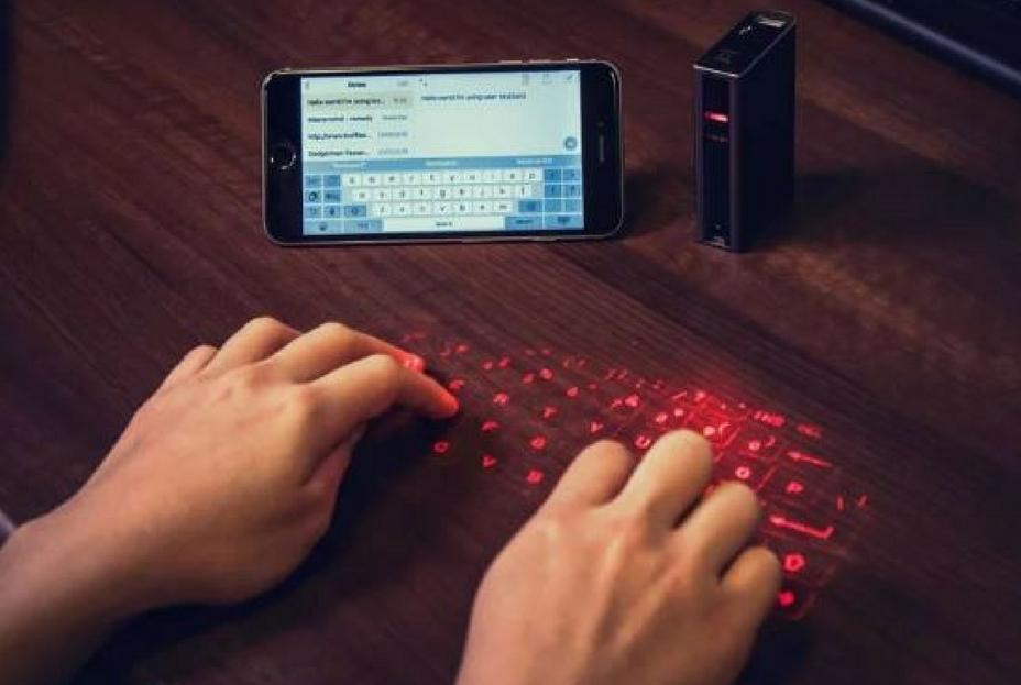 Image of Laser Keyboard courtesy of Red5 - Desk Gadgets